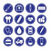 Big set of Medical Icons — Stock Vector