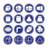 Solid icons set — Stock Vector