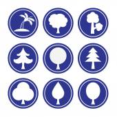 Collection of Tree icons — Stock Vector
