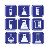 Set of laboratory equipment — Stock Vector