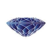 Blue sapphire icon — Stock vektor