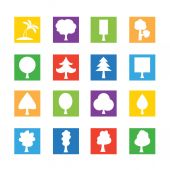 Set of Tree icons — Stock Vector