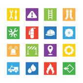 Iconos de bombero — Vector de stock