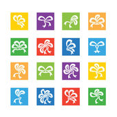 Set of elegant ribbon icons — Vettoriale Stock