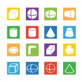 Colorful Solid icons set — Stock Vector