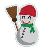 Snowman in red hat — Stock Vector
