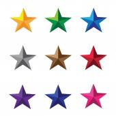 Colorful star icons — Stock Vector