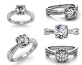 Wedding Rings with Diamonds — ストック写真