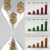 Growing graph icons — Stock Photo