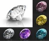 美しいダイヤモンド セット — ストック写真
