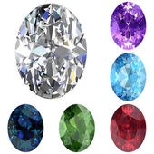 Set of colored gems — Stock Photo