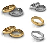 Set of Best wedding rings — Stock Photo