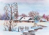 Rus kış — Stok fotoğraf