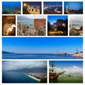Collage of landmarks of Turkey — Stock Photo