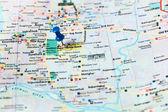 Mapa de la ciudad de Katmandú — Foto de Stock