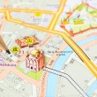 Moscow map detail - focus on Moscow city center — Stock Photo #71639265