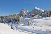 Dolomites mountain in winter — Stock Photo