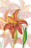 Decorative background with beautiful flowers lilies — 图库照片