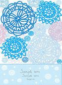Decorative snowflakes — Stock Vector