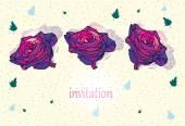 Drei rosen — Stockvektor