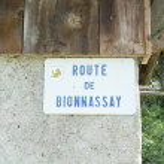 Route de Bionnassay sign — Stock Photo #52870707