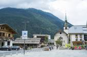Les Houches town centre, in France — Stock Photo