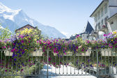 Chamonix flowery bridge — Photo