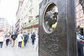 Agatha Christie memorial — Stock Photo