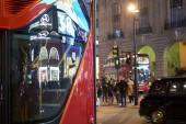 Red bus in Piccadilly Circus — Stock Photo