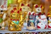 Japanese lucky cats — Stock Photo