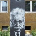 Постер, плакат: Albert Einstein Grafitti on the wall