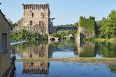 Visconteo Bridge tower — Stock Photo