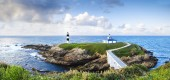 Illa Pancha Lighthouse in Ribadeo, Galicia, Spain — Stock Photo