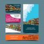 Cityscape card set — Stock Vector #65976489