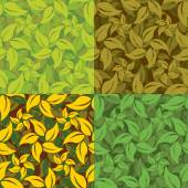 Abstract set of leaf patterns — Stock Vector