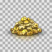 Golden nuggets pile — Stock Vector