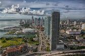 Miami downtown aerial — Stock Photo