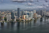 Miami downtown aerial — Stockfoto