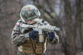 Polish Armed Forces reconstruction group — Stockfoto