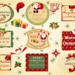 Set of christmas vintage labels . — Stock Vector #57552725
