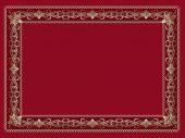 Sfondo rosso con l'ornamento d'oro. — Vettoriale Stock