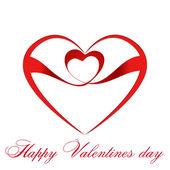 Heart with ribbon . — Stock Vector
