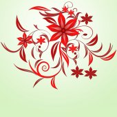 Red flower background . — Stock Vector