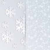 Flocos de neve voam de envelope . — Vetor de Stock
