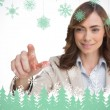 Businesswoman pointing her finger at camera — Stock Photo #53894621