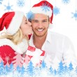 Festive young couple exchanging presents — Stock Photo #53896179