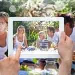 Family having fun in picnic — Stock Photo #53897545