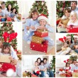 Families celebrating christmas — Stock Photo #53899833
