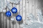 Digital hanging christmas bauble decoration — Stock Photo