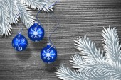Digital hanging christmas bauble decoration — Stockfoto